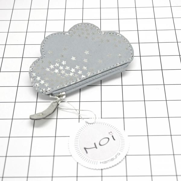 Zip Täschchen Leder Kosmos cloud ltgrey