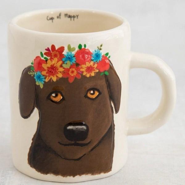 Tasse Embossed Chocolate Dog