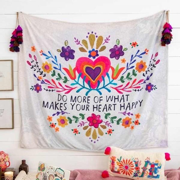 Decke Cozy Heart Happy
