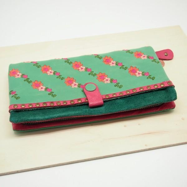 Portemonnaie Florentine zip basic mint