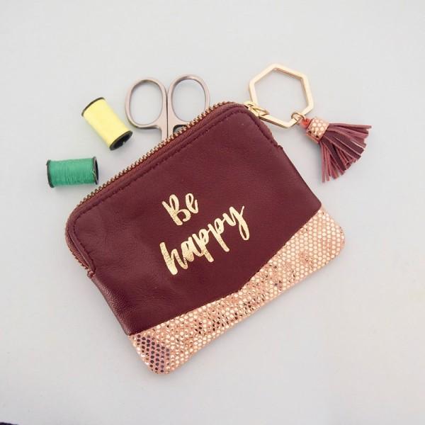 Täschchen Mini Zip Be Happy