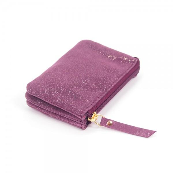 Portemonnaie Mini 3er Leder Golddust