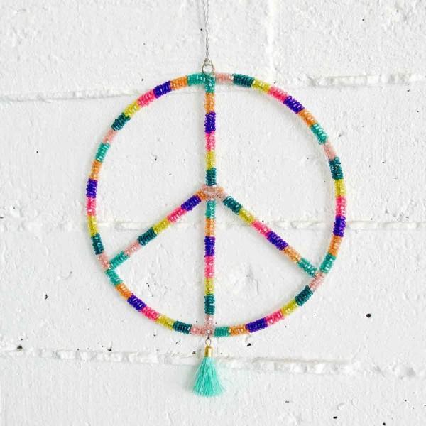 FUNKEL Dekoration Beads Peace Quaste
