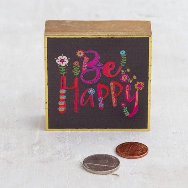 Mini Wandbild Be Happy