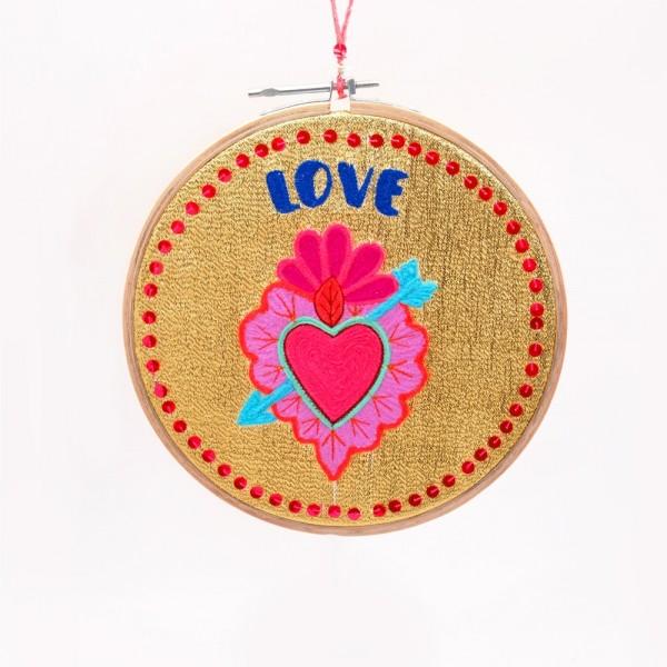 Wanddekoration LOVE heart sm gold