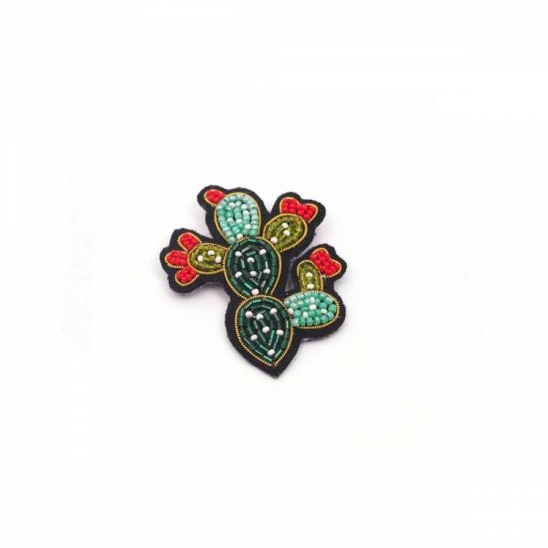 Brosche/Pin Bead Kaktus
