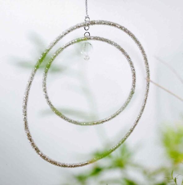 FUNKEL Beads Doppelkreis silver