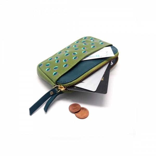 Portemonnaie mini zip 20 Doubledot kiwi