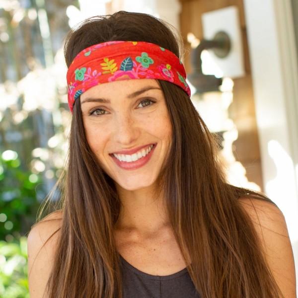 Stirn- und Haarband Boho Bandeau Red Floral