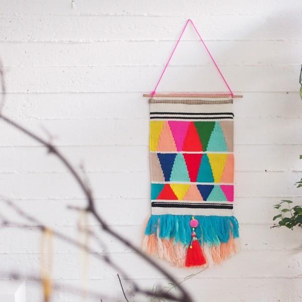 Wandbehang Woven Triangle