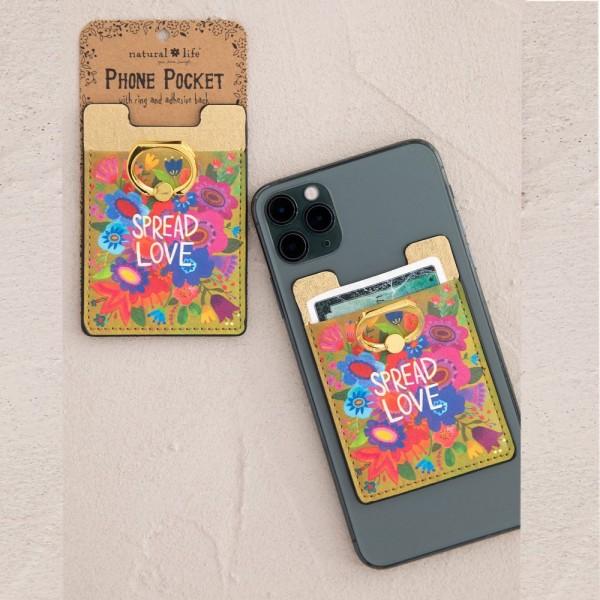 Handyring mit Kartentasche Spread Love