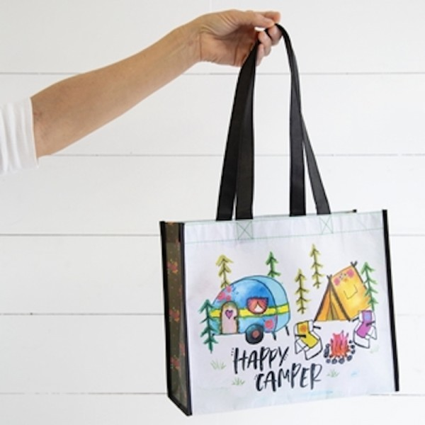 Receycled Bag L Happy Camper Tent