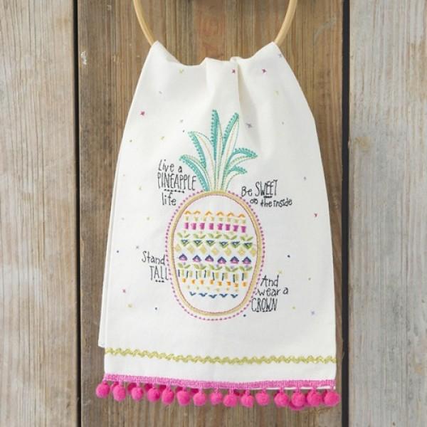 Leinen-Geschirrhandtuch  Pineapple Life