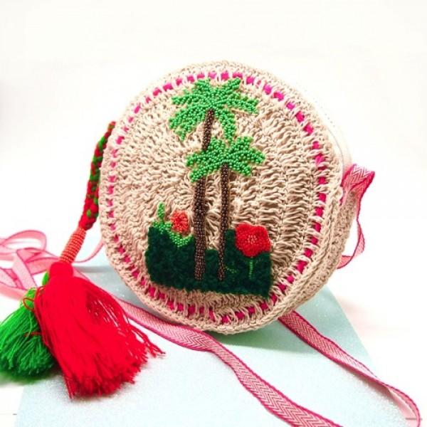 Täschchen round Tukan- Palmtree