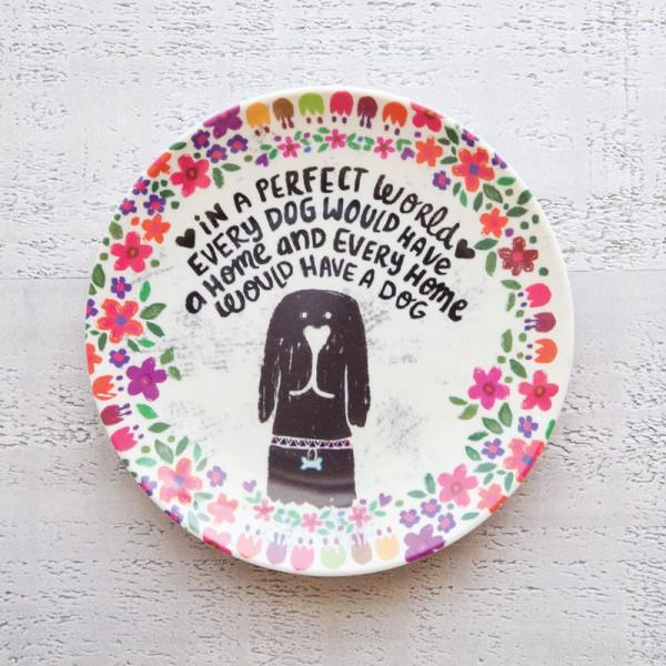 Mini Melamine Plt Prfct Wrld Dog