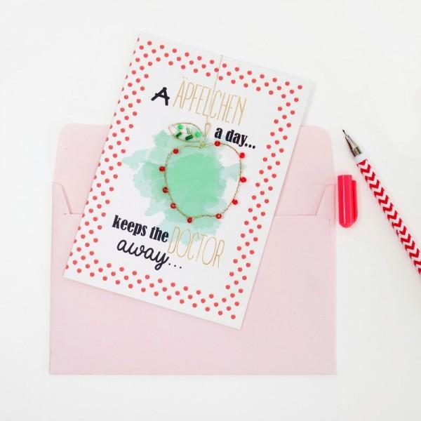 Karte+ Umschlag Äpfelchen