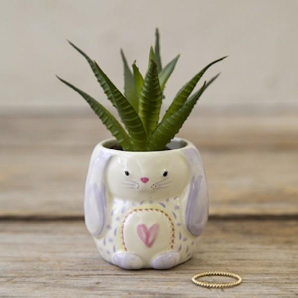 Vase Critter Succulent Bunny