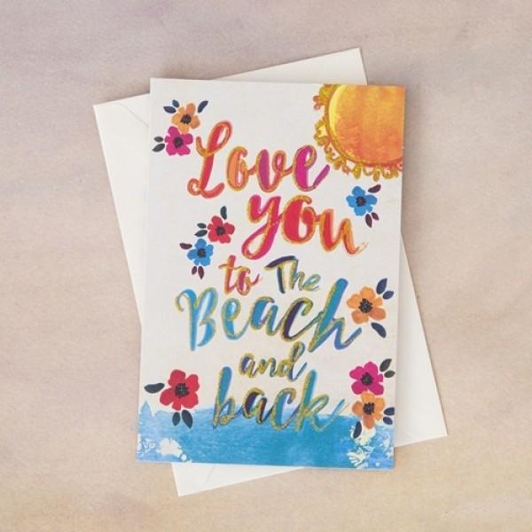 Grußkarte mit Umschlag  Love You Beach Back
