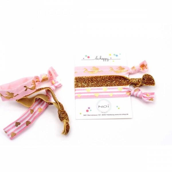 Flamingo Arm- und Haarband Gold