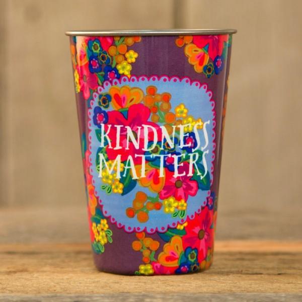 Becher aus Edelstahl Kindness matters