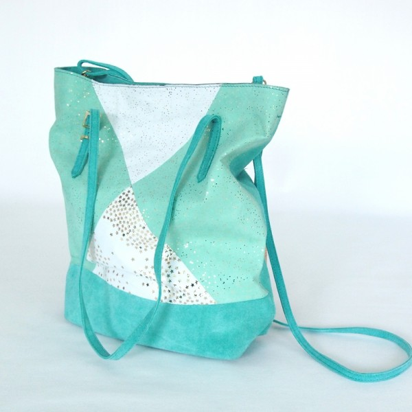 Shopper Leder Kosmos mintgreen