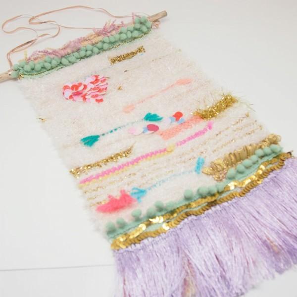 Wandbehang Woven mintgold