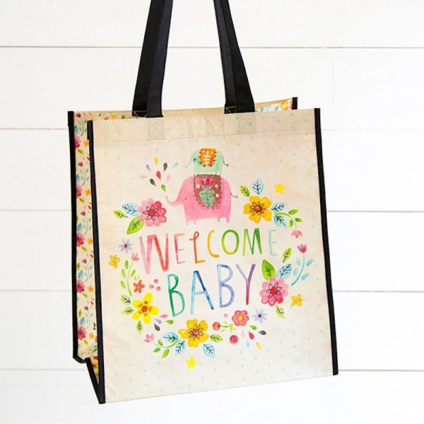 Recycled Tasche L Welcome Baby