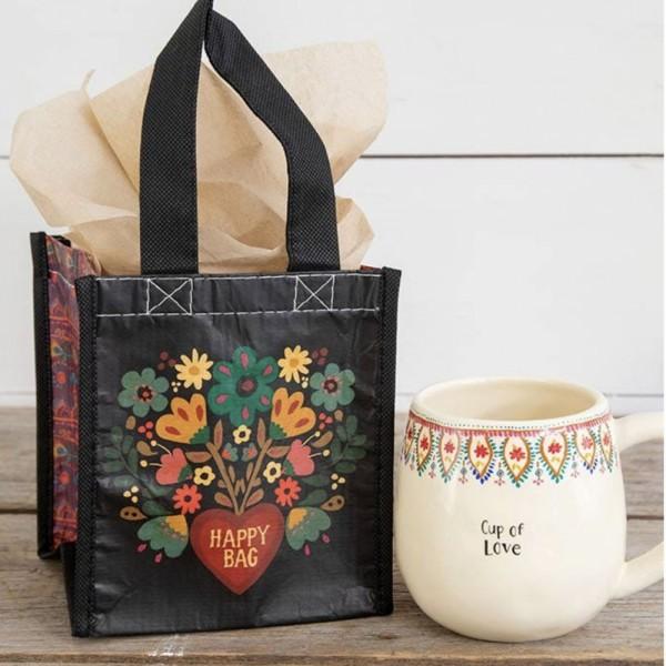 Recycle Tasche S black folk Heart