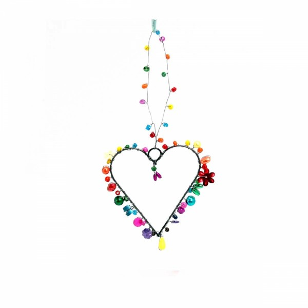 Dekoration Funkel Heart 7 rainbow