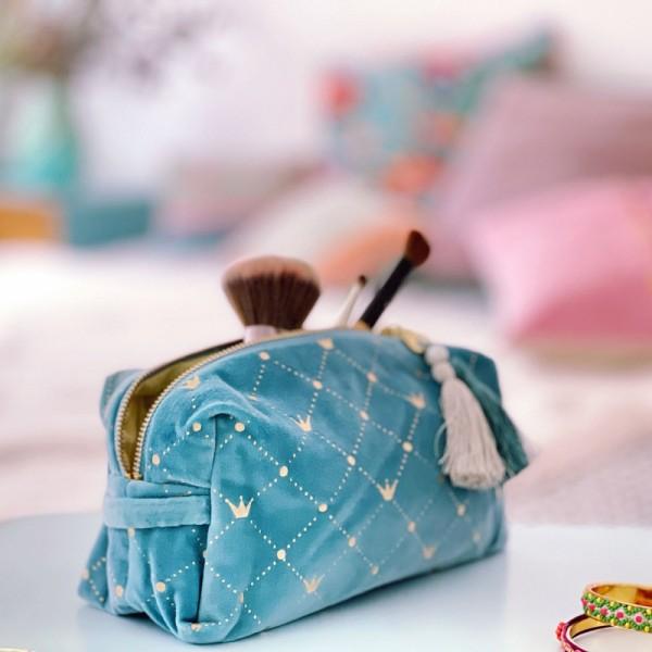 Kosmetiktasche Crown blue LG