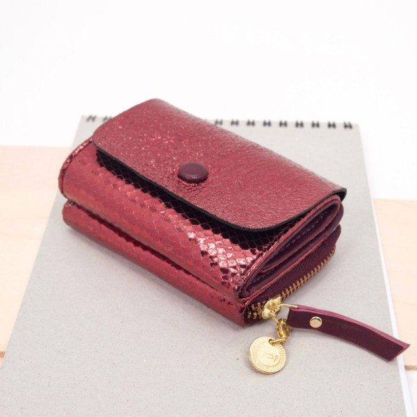 Mini Portemonnaie Leder Sleek