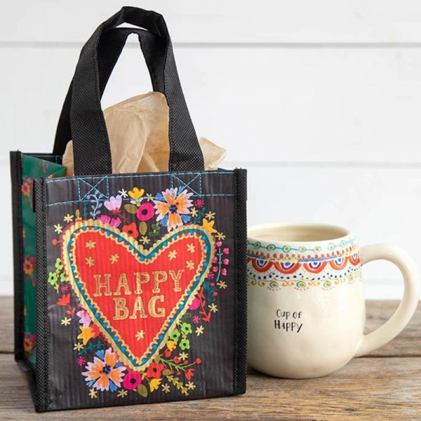 Recycle Tasche S Happy Bag Floral Heart