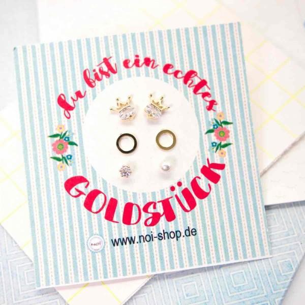 Ohrringe Mini Crown