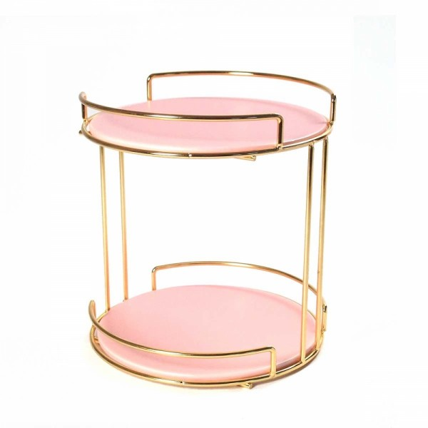 Display 2 tray round rosa