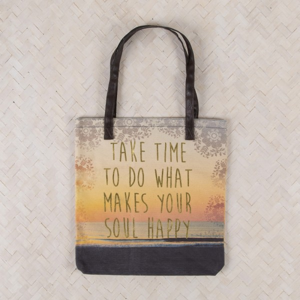 Tote Shopper Indi Blue Happy Soul