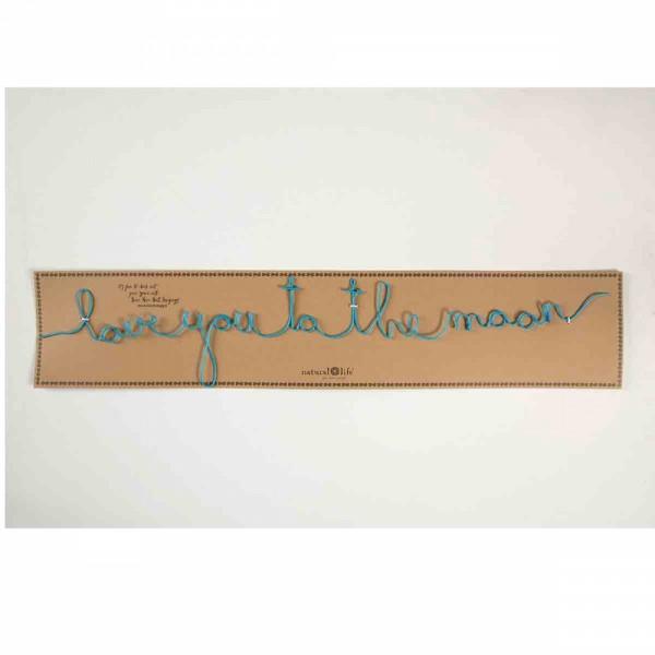 "Wandbild aus Draht ""Love you moon"""