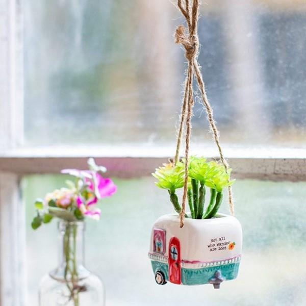 Hängende Mini Succulente Camper