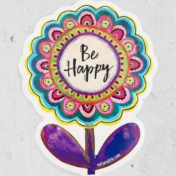 Sticker Be Happy Flower