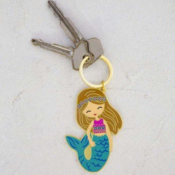 Schlüsselanhänger Enamel Mermaid
