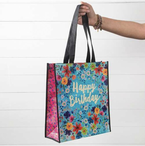 Recycled Tasche  Bday Blue Floral