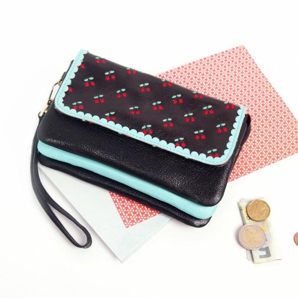 Portemonnaie CHERRY Wristlet Zip black