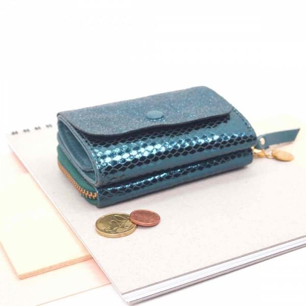 Mini Portemonnaie Leder Sleek