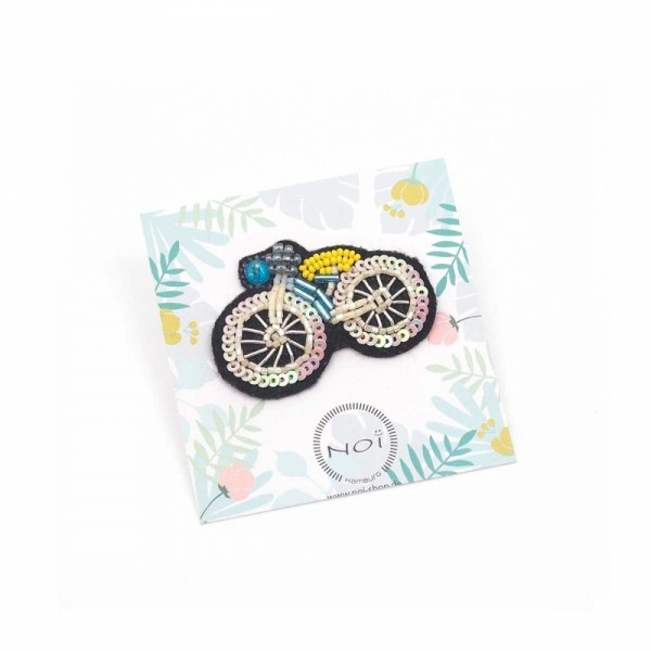 Brosche/Pin Bead Bicycle