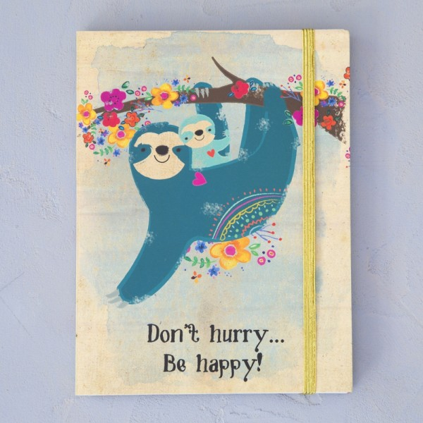 Notizbuch Don't Hurry Sloth Be Happy
