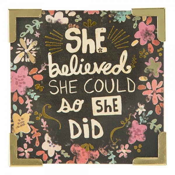 Corner Magnet She believed she