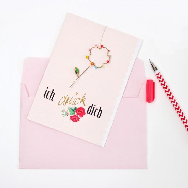 Karte+ Umschlag Ich drück Dich