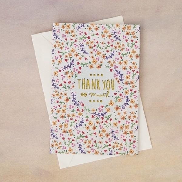 Grußkarte mit Umschlag Thank You So Much