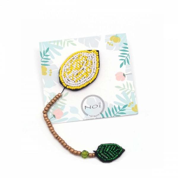 Brosche/Pin Bead Lemon