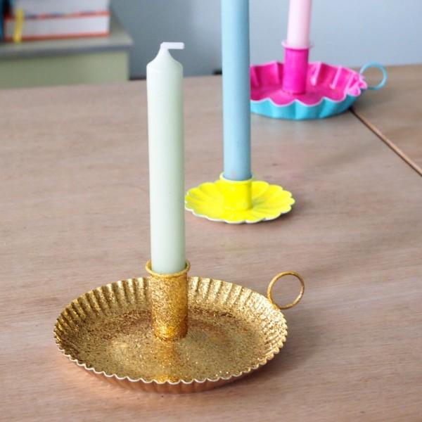 Kerzenhalter gold Sparkle L