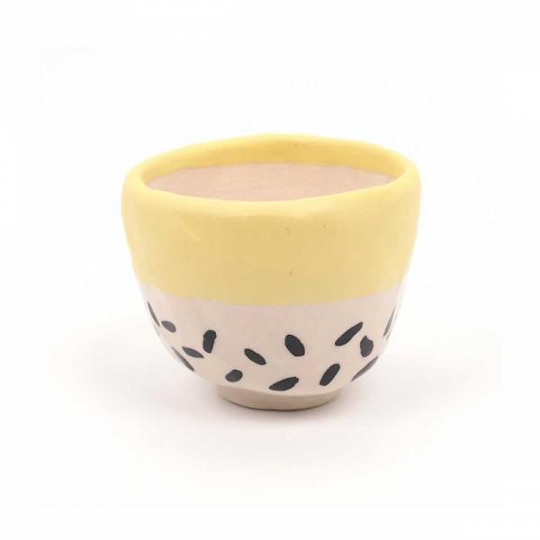 Übertopf Keramik yellow